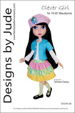 "Clever Girl Doll Clothes Sewing Pattern 15.25"" Maudlynne & LittleMissMatched"