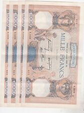 1000 FRANCS CERERS ET MERCURE 30 MARS 26/1/1939 SUP