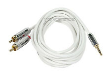 10ft Designed for Mobile 3.5mm Stereo Male to RCA Stereo Male Gold Plated
