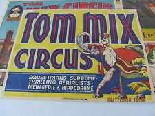 TOM MIX CIRCUS HALF SHEET POSTER 1930's ORIGINAL WITH CIRCUS ELEPHANT