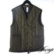 NWT Man 1924 Carlos Castillo Army Green Quilted Gilet Body Warmer Vest XL NR