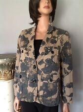 J. Crew Cotton Jacket Floral Military Green Khaki S Deigner Fashion Hip