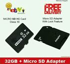 32GB Micro SD CARD CLASS 10 TF FLASH MEMORY CARD + FREE ADAPTER + FREE CASE