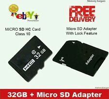 32gb MICRO SD CARD CLASSE 10 TF FLASH MEMORY CARD + ADATTATORE gratuita + Custodia Gratis