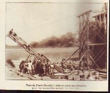 1928  --  MALI SOUDAN FRANCAIS  PONT DE DIANE  MISE EN PLACE DES CHEVALETS  Z891