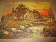 Vintage Tuco Pictiure Puzzle Cottage Creek Sunset Complete