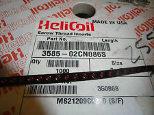 "Heli-Coil 2-56 X 1D (.086"") Screw Thread Inserts, 3585-02CN086S, Partial Roll"