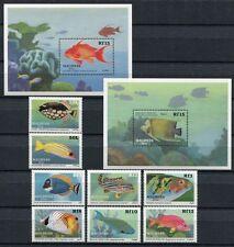 MALEDIVEN MALDIVE 1989 Fische Fishes Poissons Pesci 1349-1356 + Bl. 153-154 **