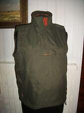 Veste blouson sans manches zip PEPE JEANS L 40/42 polyester kaki/orange