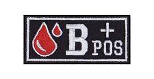 B + Pos Blutgruppe Patch Aufnäher Badge Blood Type Biker Rocker Bügelbild Kutte