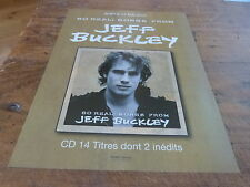 JEFF BUCKLEY - Publicité de magazine / Advert SO REAL : SONGS FROM - 2007  !!!