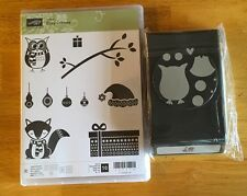 Stampin' UP! COZY CRITTERS with OWL BUILDER Punch, BRAND NEW