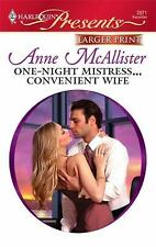 One-Night Mistress... Convenient Wife 2871 by Anne McAllister  Larger  Print