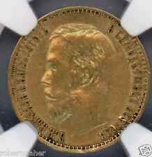 1899 (03) Gold Russian 5 Roubles NGC Graded AU 53 MAKE ME AN OFFER!!!