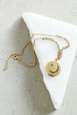 NEW URBAN OUTFITTERS TRAVELING LAYER LOCKET NECKLACE GOLD TONE