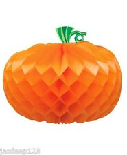 "10"" Pumpkin Honeycomb Table Centrepiece Halloween Party Decorations Prop Horror"