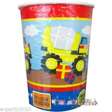 TONKA CONSTRUCTION 9oz PAPER CUPS (6) ~ Construction Birthday Party Supplies