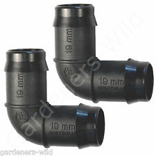"ELBOW 19mm x2, 3/4"" Irrigation Pipe Fitting barb water hydroponic pond aquarium"