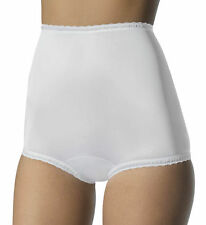 BALI FreeForm 100% Antron III Nylon Full-Cut High-Waist White Brief Size 6/M