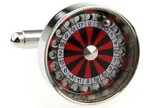 Roulette Wheel Cufflinks Dealer Casino Wedding Fancy Gift Box Free Ship USA