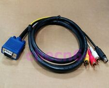 VGA To S-Video/AV/TV RCA Adapter Cable Separate Video 15pin For PC Video Card