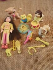 "Polly Pocket Lot ""Colors of the Rainbow"" Doll Yellow Pets Cat Dog Accessory L35"