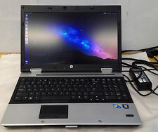 "HP Elitebook 8540p 15.6"" Laptop  i5 2.53GHz nVidia 5100M 4 GB RAM  250HD Ubuntu"