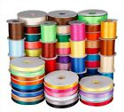 PARTY DECORATIN 25YARDS Double faced satin Ribbon 3mm 6mm 10mm 16mm 38mm lots zf