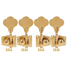 4 String Bass Guitar Tuning Pegs Tuners Keys Machine Heads Open Back 2L2R Gold