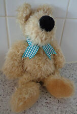 Jellycat 1998 vintage dog with Green bow beanie 10 Inches tall soft plush toy