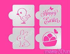 4 pcs Easter Cookie Stencil, Cake stencil, Tortenschablone