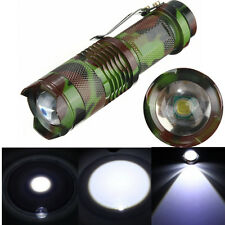 Mini CREE Q5 2000 Lumen LED 3 Mode Zoomable Flashlight Torch Light Lamp
