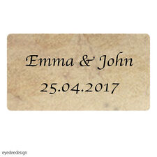 260x Personalised Mini Wedding Shabby Vintage Rustic Favour Labels Stickers- 441