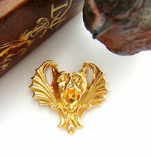 BRASS (2 Pieces) Gothic Bat GARGOYLE Stamping ~ Jewelry Finding (FB-6026) `