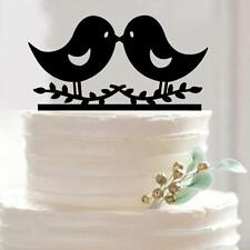 Love Birds Figures Acrylic Cake Topper Wedding Engagement Party Decoration