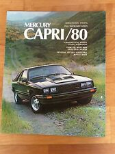 Ford (USA) 1980 Mercury Capri , RS, Turbo RS, Ghia Amerikanischer Prospekt