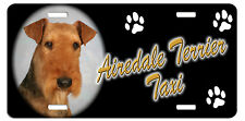 Airedale Terrier Taxi Line License Plate (( LOW CLEARANCE PRICE ))