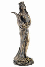 Roman Goddess Prosperity Lady Luck Fortuna Bronze Resin Statue #WU75416A4
