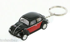 Volkswagen Black Classic Beetle Bug Key Chain 1967 1:64 Scale Diecast Model Car