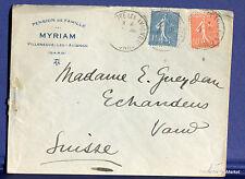 FRANCE SEMEUSE Yt 205   sur lettre   vers la SUISSE  1927 FA60