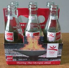 1992 Coca-Cola Coke Classic Barcelona Olympics Bottles set of 6 enpty