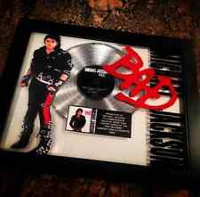 Michael Jackson BAD Platinum Disc Record Album Music Award MTV Grammy RIAA