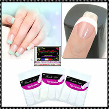 50 STICKERS AUTOCOLLANT FAUX ONGLES TIP GUIDE MANUCURE NAIL ART KIT GEL UV U