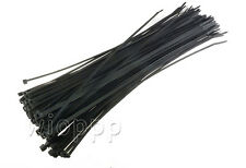 "100 PCS Pack 12"" inch 60 Lbs Black Network Cable Cord Wire Tie Strap Zip Nylon"