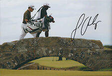 Louis OOSTHUIZEN SIGNED Autograph 12x8 Photo AFTAL COA GOLF Swilcan Burn Bridge