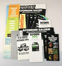 ILFORD BLACK AND WHITE, CIBACHROME AND FILM INFORMATION PAMPHLETS