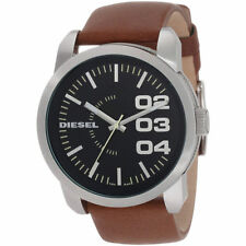 New with Tags Diesel Men's DZ1513 'Double Down 46' Brown Leather Watch