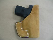 Glock 42 .380 Inside the Pocket Leather Concealment Holster CCW ITP