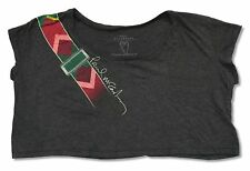"PAUL MCCARTNEY ""GUITAR STRAP ON GREY"" CROP TOP SHIRT NEW OFFICIAL LADIES OS"