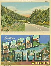 Eagle River WI Scenic Country Road and A Big Letter Greeting from Eagle River